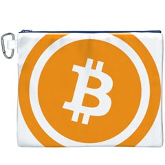 Bitcoin Cryptocurrency Currency Canvas Cosmetic Bag (xxxl)