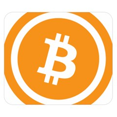 Bitcoin Cryptocurrency Currency Double Sided Flano Blanket (small)