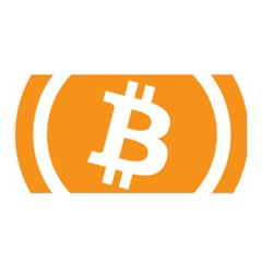 Bitcoin Cryptocurrency Currency Satin Wrap