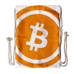 Bitcoin Cryptocurrency Currency Drawstring Bag (large)