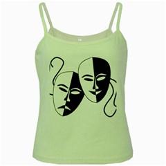 Theatermasken Masks Theater Happy Green Spaghetti Tank
