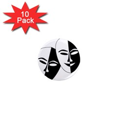 Theatermasken Masks Theater Happy 1  Mini Magnet (10 pack)