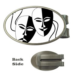 Theatermasken Masks Theater Happy Money Clips (oval)