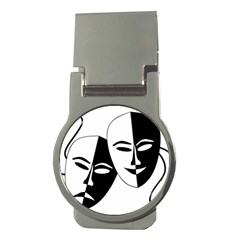 Theatermasken Masks Theater Happy Money Clips (round)