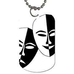 Theatermasken Masks Theater Happy Dog Tag (one Side)