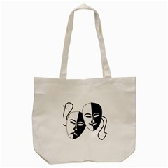 Theatermasken Masks Theater Happy Tote Bag (cream)