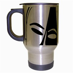 Theatermasken Masks Theater Happy Travel Mug (silver Gray)