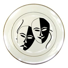 Theatermasken Masks Theater Happy Porcelain Plates