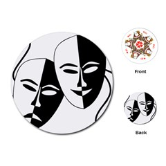 Theatermasken Masks Theater Happy Playing Cards (Round)