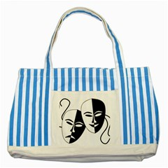 Theatermasken Masks Theater Happy Striped Blue Tote Bag