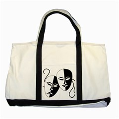 Theatermasken Masks Theater Happy Two Tone Tote Bag