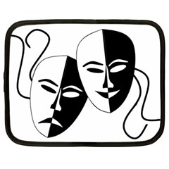 Theatermasken Masks Theater Happy Netbook Case (Large)