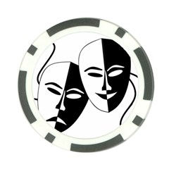 Theatermasken Masks Theater Happy Poker Chip Card Guard (10 Pack)