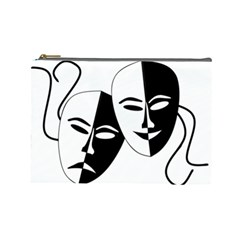 Theatermasken Masks Theater Happy Cosmetic Bag (Large)