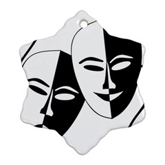 Theatermasken Masks Theater Happy Snowflake Ornament (two Sides)