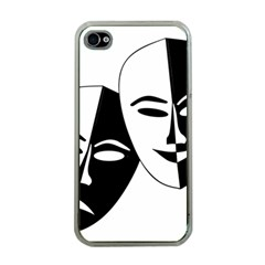 Theatermasken Masks Theater Happy Apple Iphone 4 Case (clear)