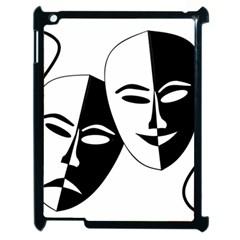 Theatermasken Masks Theater Happy Apple Ipad 2 Case (black)