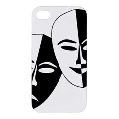 Theatermasken Masks Theater Happy Apple iPhone 4/4S Hardshell Case