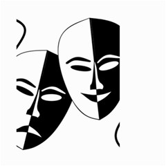 Theatermasken Masks Theater Happy Small Garden Flag (Two Sides)