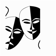 Theatermasken Masks Theater Happy Large Garden Flag (Two Sides)