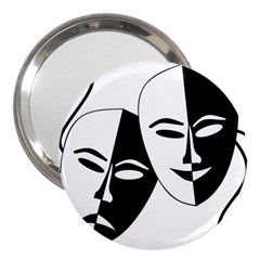 Theatermasken Masks Theater Happy 3  Handbag Mirrors