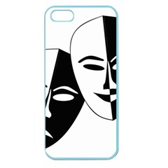 Theatermasken Masks Theater Happy Apple Seamless Iphone 5 Case (color)