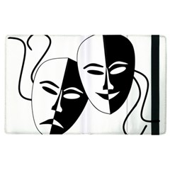 Theatermasken Masks Theater Happy Apple iPad 2 Flip Case