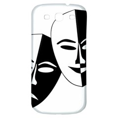 Theatermasken Masks Theater Happy Samsung Galaxy S3 S Iii Classic Hardshell Back Case