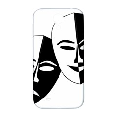 Theatermasken Masks Theater Happy Samsung Galaxy S4 I9500/i9505  Hardshell Back Case