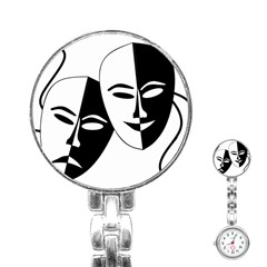 Theatermasken Masks Theater Happy Stainless Steel Nurses Watch