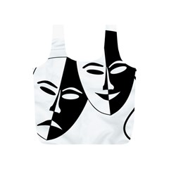 Theatermasken Masks Theater Happy Full Print Recycle Bags (s)