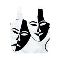 Theatermasken Masks Theater Happy Full Print Recycle Bags (M)