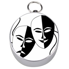 Theatermasken Masks Theater Happy Silver Compasses