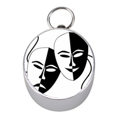 Theatermasken Masks Theater Happy Mini Silver Compasses