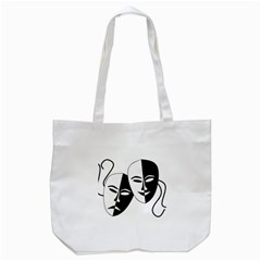 Theatermasken Masks Theater Happy Tote Bag (white)
