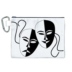 Theatermasken Masks Theater Happy Canvas Cosmetic Bag (xl)