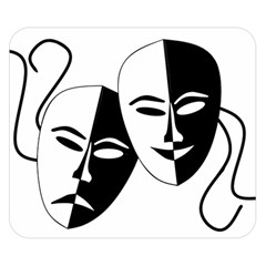 Theatermasken Masks Theater Happy Double Sided Flano Blanket (small)