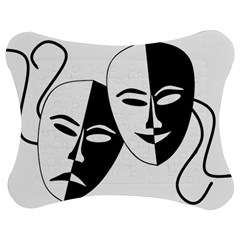 Theatermasken Masks Theater Happy Jigsaw Puzzle Photo Stand (bow)