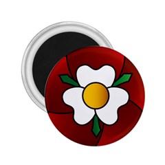Flower Rose Glass Church Window 2 25  Magnets