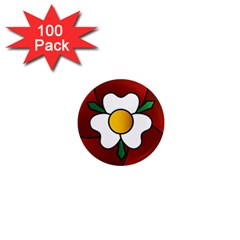 Flower Rose Glass Church Window 1  Mini Magnets (100 Pack)