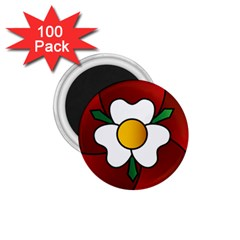 Flower Rose Glass Church Window 1.75  Magnets (100 pack)