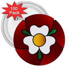 Flower Rose Glass Church Window 3  Buttons (100 Pack)