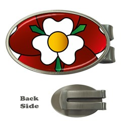 Flower Rose Glass Church Window Money Clips (oval)
