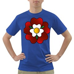 Flower Rose Glass Church Window Dark T Shirt
