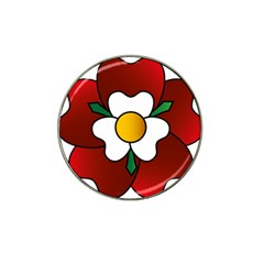 Flower Rose Glass Church Window Hat Clip Ball Marker (4 Pack)