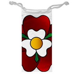 Flower Rose Glass Church Window Jewelry Bag