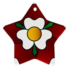 Flower Rose Glass Church Window Star Ornament (two Sides)