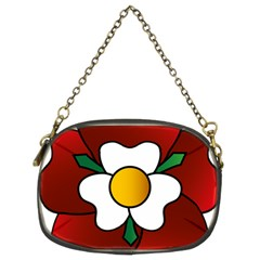 Flower Rose Glass Church Window Chain Purses (two Sides)