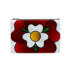Flower Rose Glass Church Window Cosmetic Bag (medium)