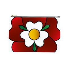 Flower Rose Glass Church Window Cosmetic Bag (Large)